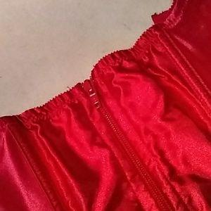Intimates & Sleepwear - Red satin corset